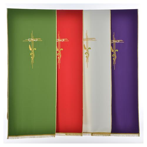 Voile de lutrin croix stylisée épis tressés 1