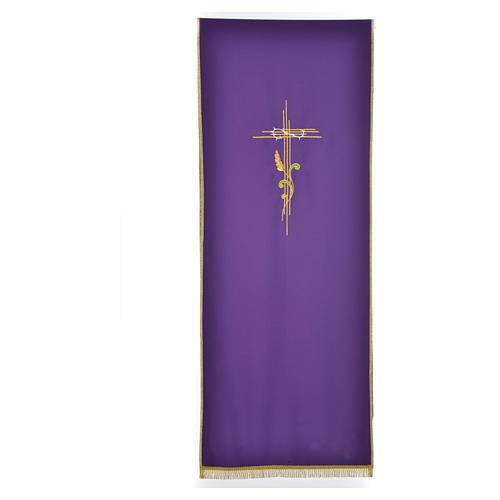 Voile de lutrin croix stylisée épis tressés 2