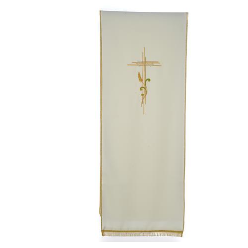 Voile de lutrin croix stylisée épis tressés 3