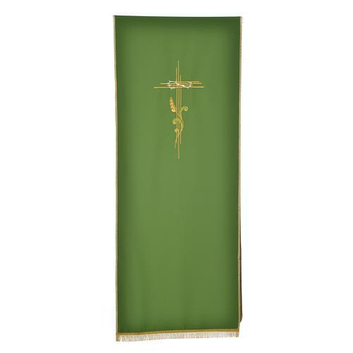 Voile de lutrin croix stylisée épis tressés 5