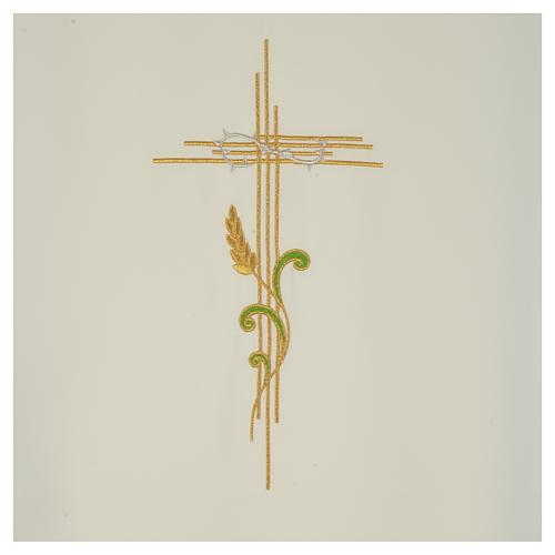 Voile de lutrin croix stylisée épis tressés 6