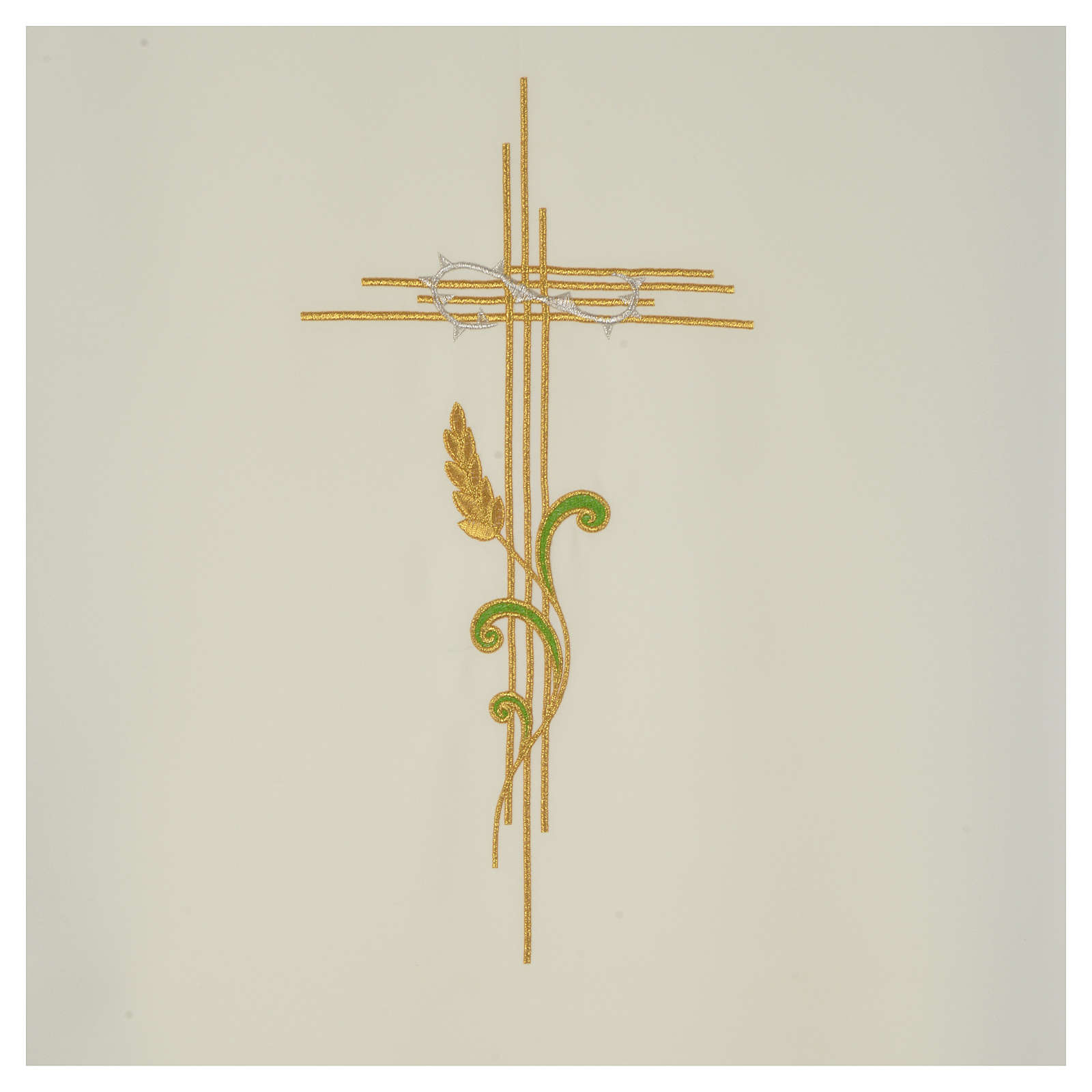 Pulpit fall with stylized cross and ears of wheat 4