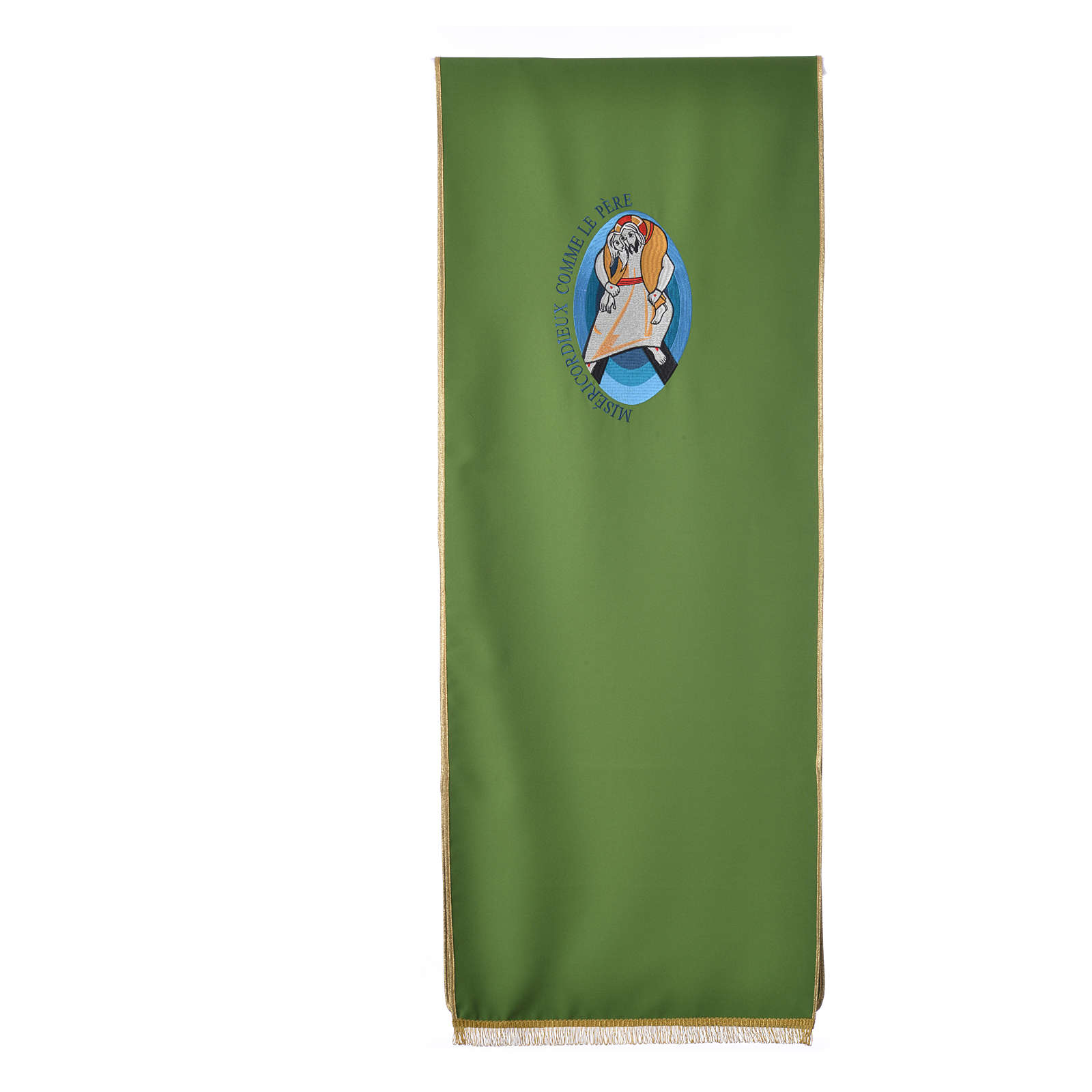 STOCK Jubilee lectern cover with FRENCH machine embroided logo 4