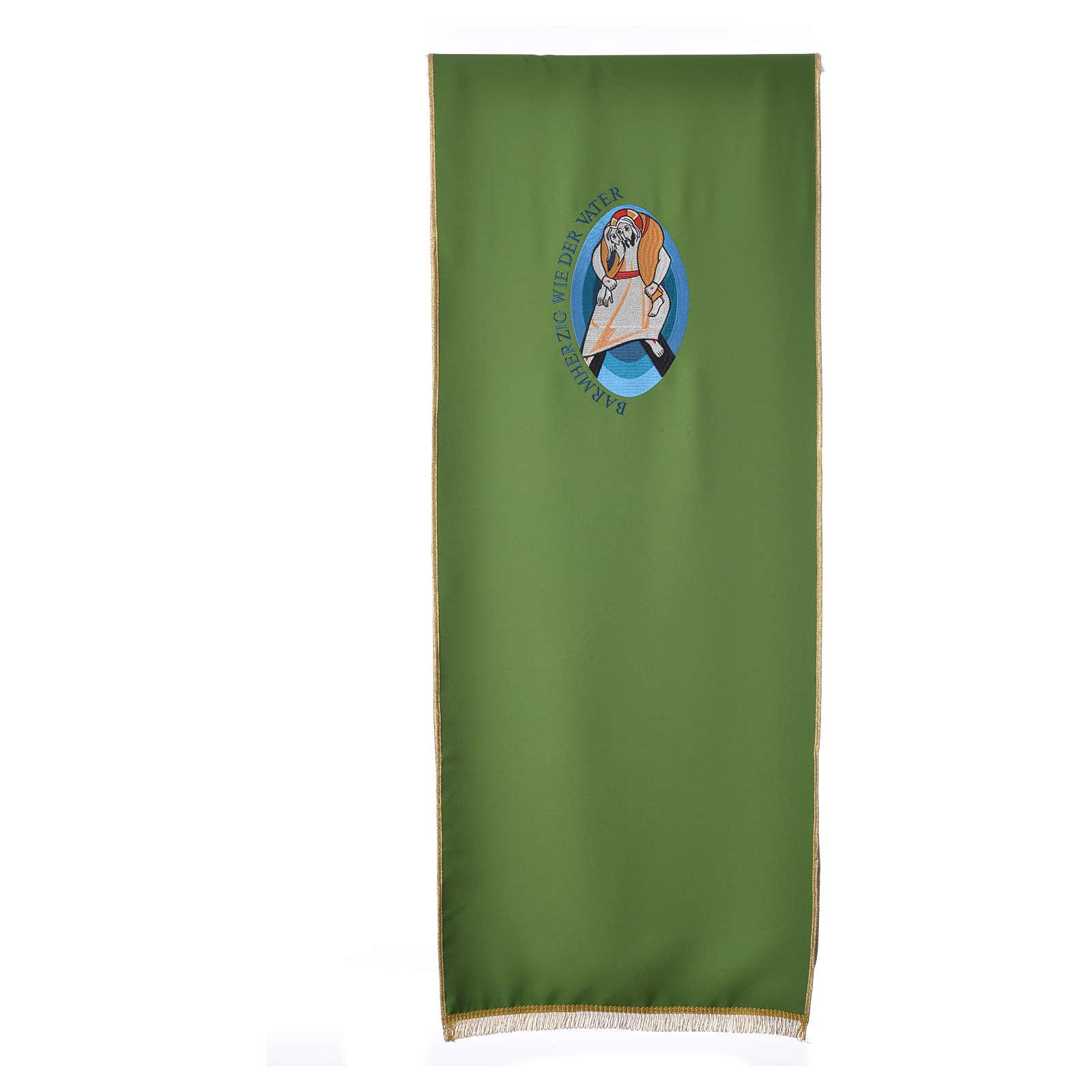 STOCK Voile lutrin Jubilé Miséricorde inscription ALLEMAND polyester 4