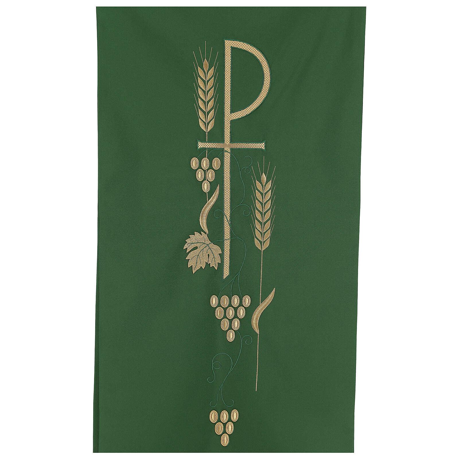 Voile lutrin épis feuille raisin symbole P 4