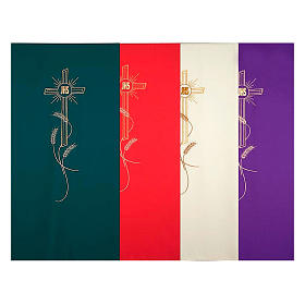 Lectern covers: Lectern cover golden embroideries spikes, cross and JHS