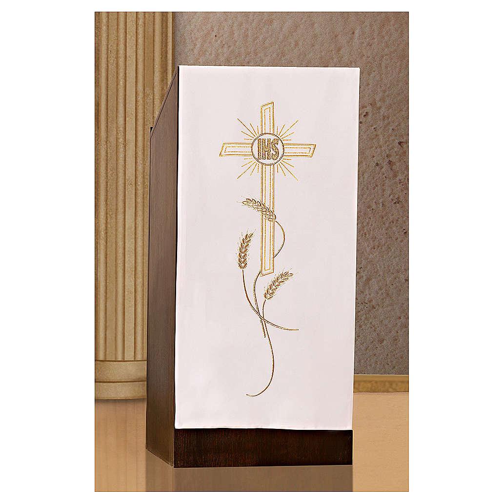 Coprileggio ricami oro spighe croce JHS 4