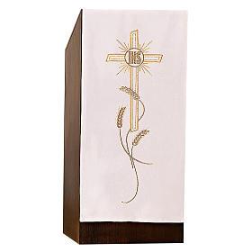 Coprileggio ricami oro spighe croce JHS s10