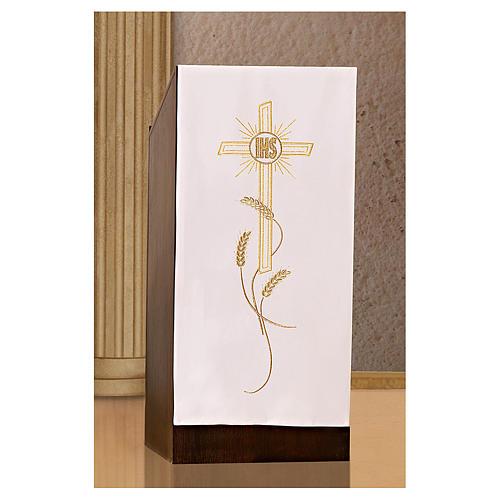 Coprileggio ricami oro spighe croce JHS 9