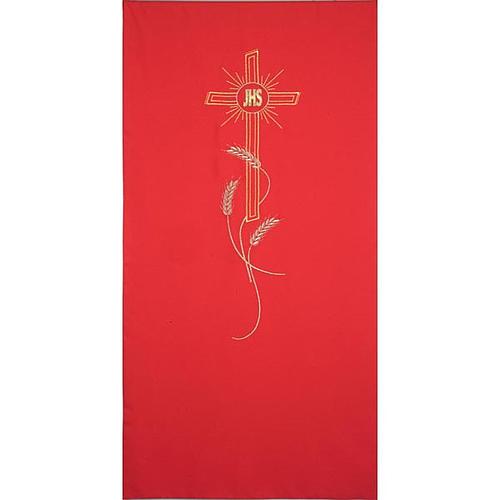 Coprileggio ricami oro spighe croce JHS 3