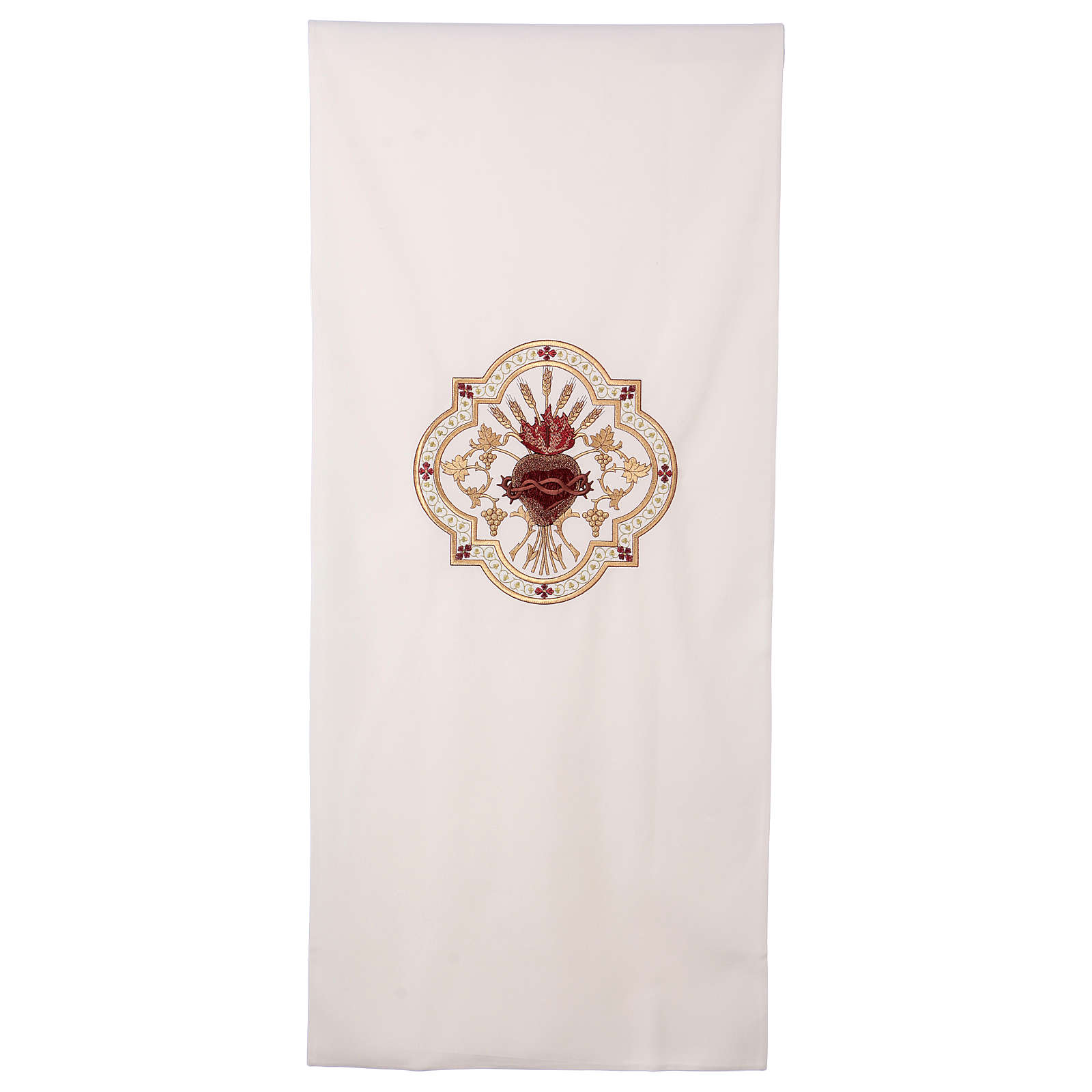 Lectern cover Sacred Heart red embroidery 4