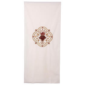 Lectern cover Sacred Heart red embroidery s1