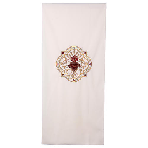 Lectern cover Sacred Heart red embroidery 1