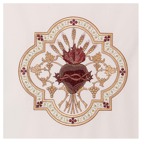 Lectern cover Sacred Heart red embroidery 2
