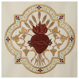 Coprileggio Sacro Cuore di Gesù ricamato rosso s8