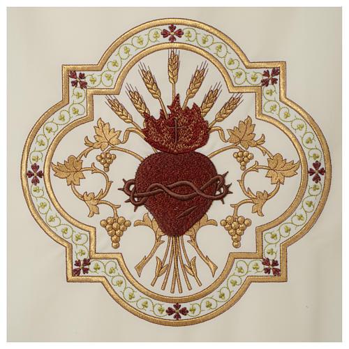 Coprileggio Sacro Cuore di Gesù ricamato rosso 8