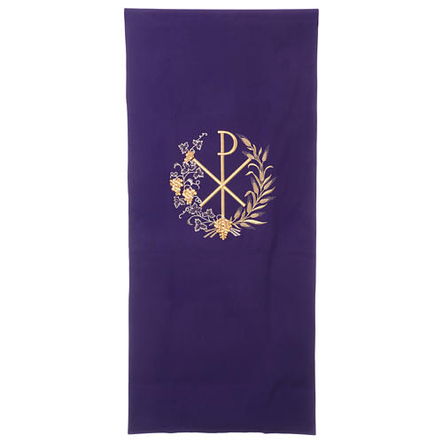 Lectern cover vine branch, grapes and PAX symbol 1