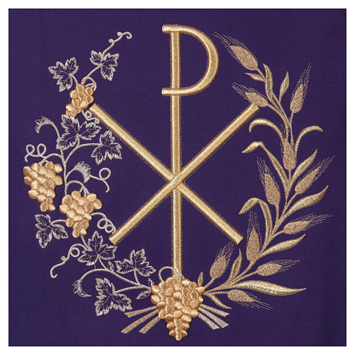 Lectern cover vine branch, grapes and PAX symbol 2