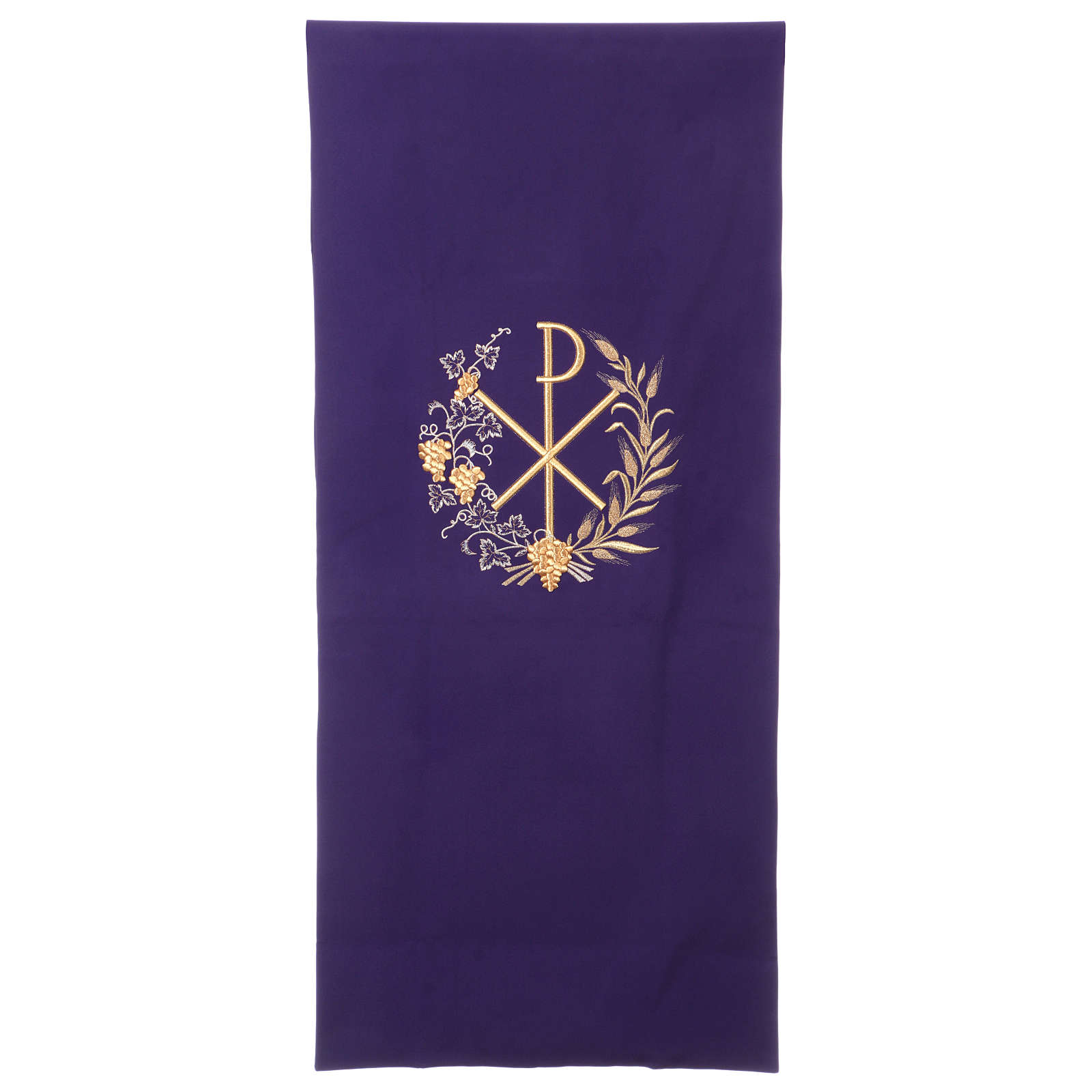 Pulpit cover with embroidered Chi-Rho symbol 4