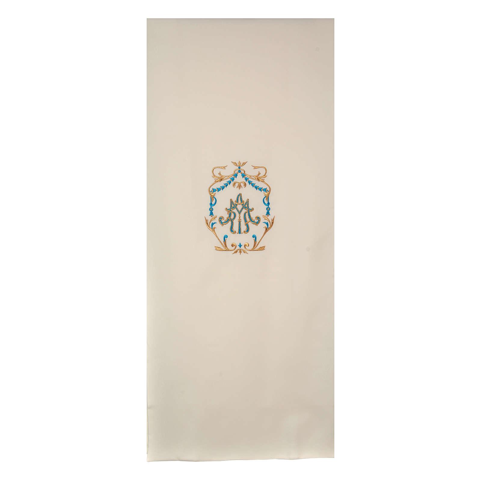 Véu de ambão bordado ouro e azul Santíssimo Nome de Maria 4