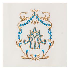 Véu de ambão bordado ouro e azul Santíssimo Nome de Maria s2