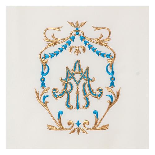 Véu de ambão bordado ouro e azul Santíssimo Nome de Maria 2