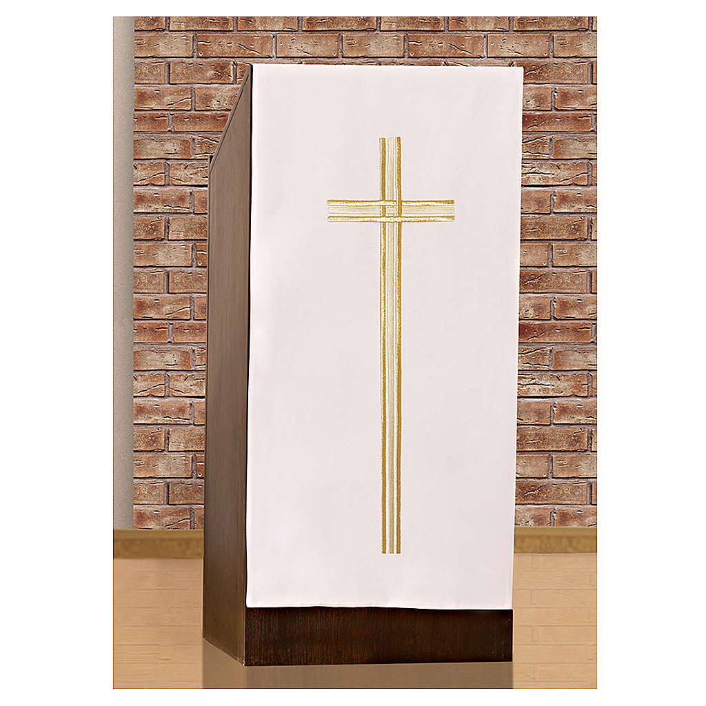 Lectern cover cross and gold embroideries 4