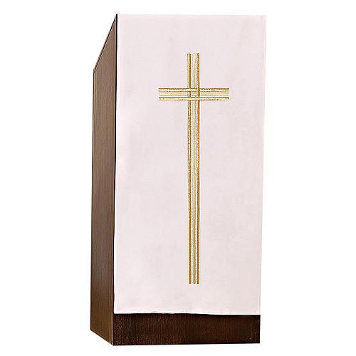 Coprileggio croce ricamo dorato 1
