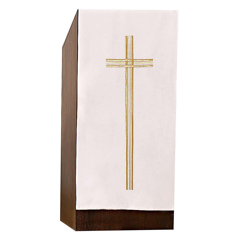 Pulpit cover with embroidered gold cross 4