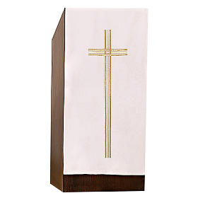 Pulpit cover with embroidered gold cross s1