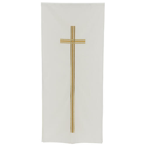 Pulpit cover with embroidered gold cross 1
