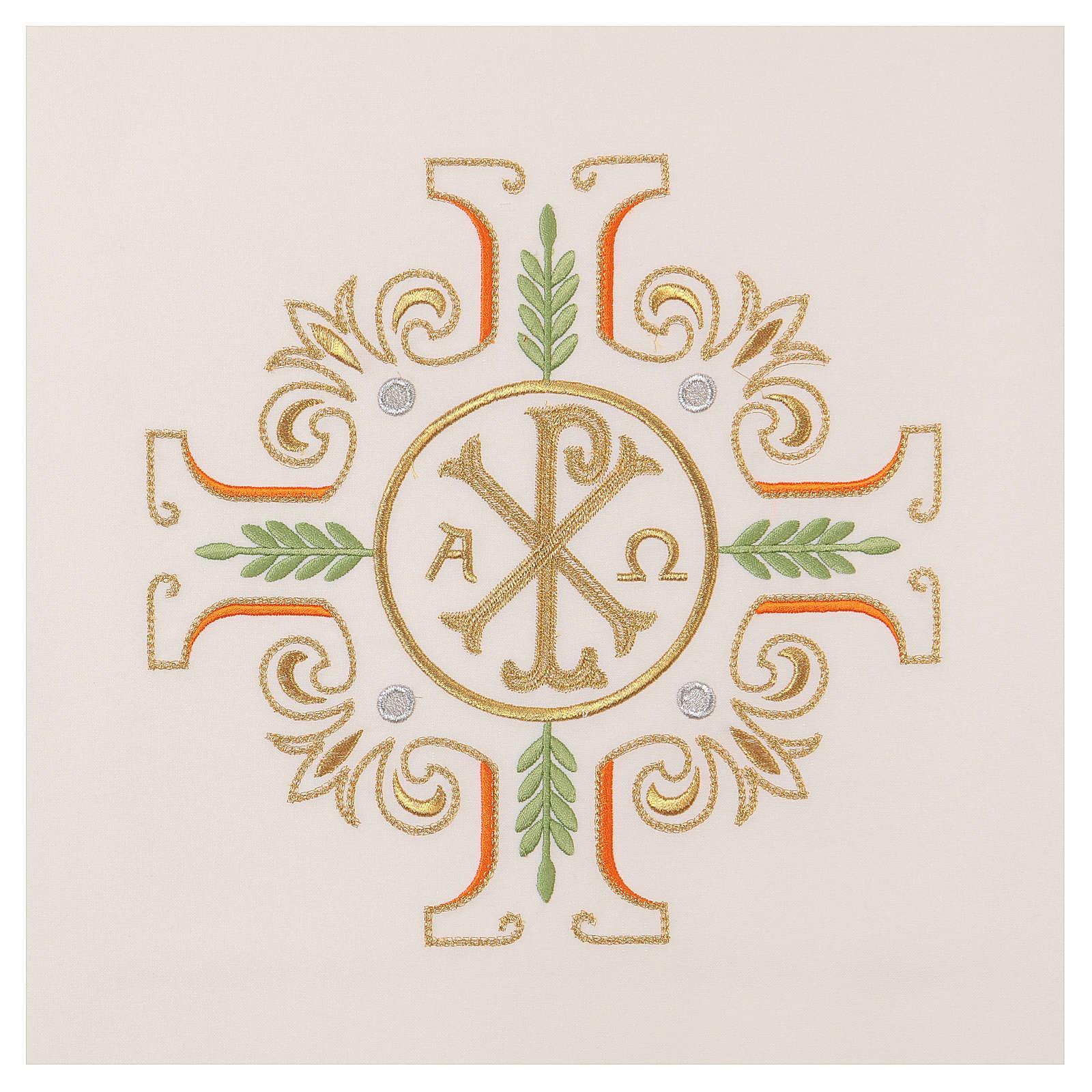 Coprileggio croce simbolo PAX Alfa e Omega 4