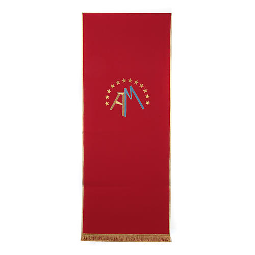 Marian pulpit cover, 4 liturgical colors 5