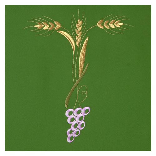 Paño de atril con tres espigas doradas y uva estilizada 3