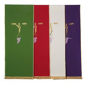 Voiles de lutrin: Voile avec trois épis dorés et raisin stylisé