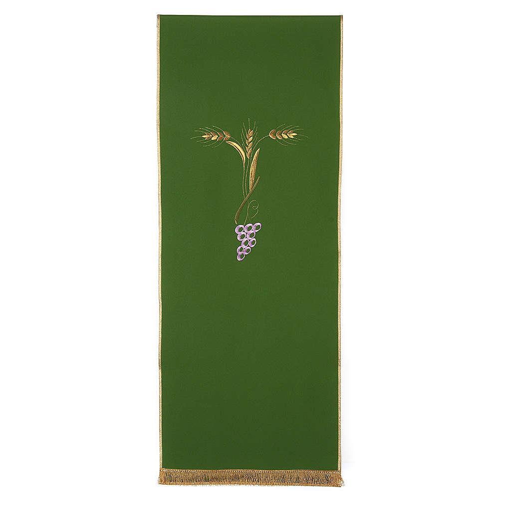 Coprileggio con tre spighe dorate e uva stilizzata 4