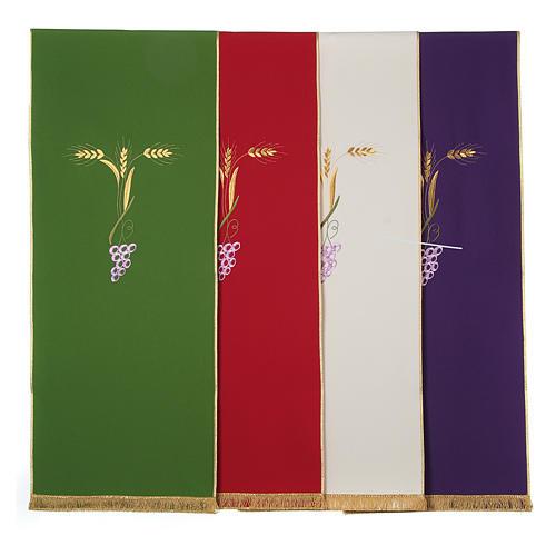 Coprileggio con tre spighe dorate e uva stilizzata 1