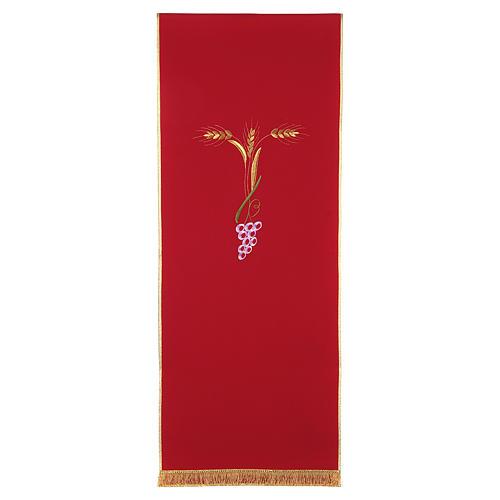 Coprileggio con tre spighe dorate e uva stilizzata 5