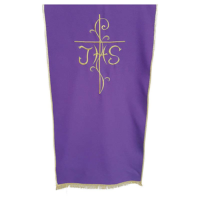 Coprileggio tessuto Vatican poliestere ricamo croce JHS 4