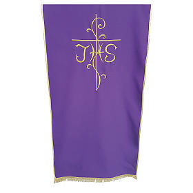 Coprileggio tessuto Vatican poliestere ricamo croce JHS s1