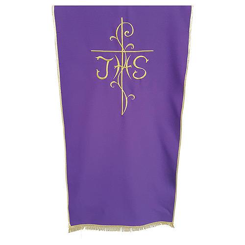 Coprileggio tessuto Vatican poliestere ricamo croce JHS 1