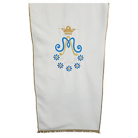 Marian Lectern cover in Vatican fabric with daisy embroidery s1