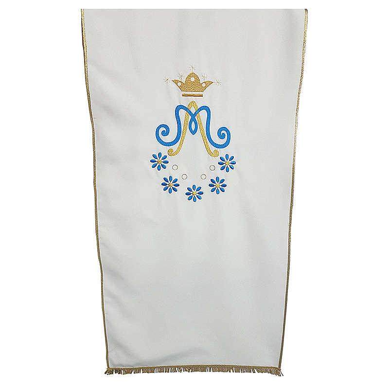 Croprileggio Mariano tessuto Vatican ricamo margherite 4