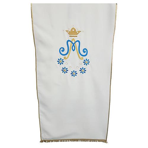Croprileggio Mariano tessuto Vatican ricamo margherite 1