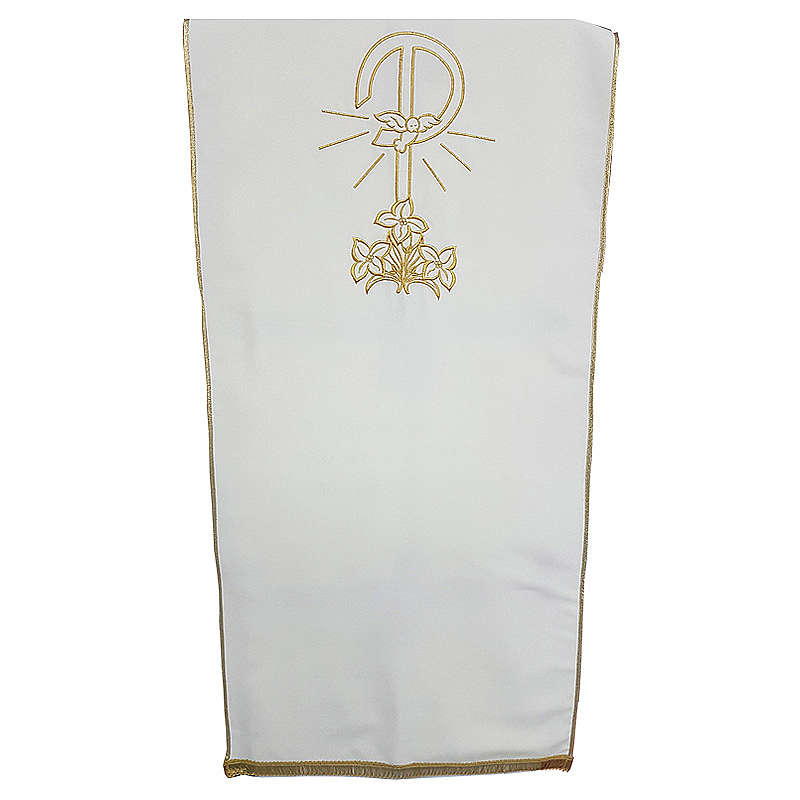 Coprileggio tessuto Vatican poliestere ricamo Pace gigli 4