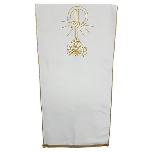 Coprileggio tessuto Vatican poliestere ricamo Pace gigli 1