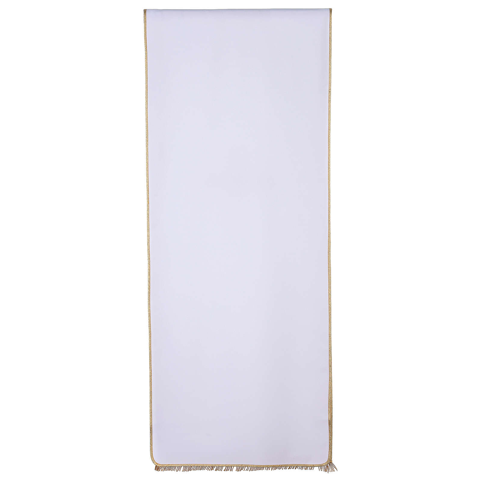 Lectern cover in Vatican fabric, polyester with cross and flower embroidery 4