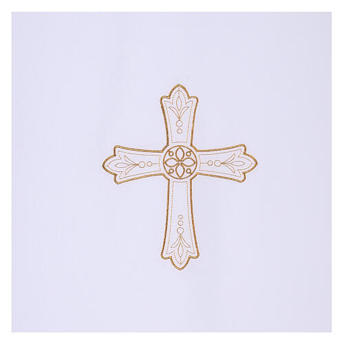Lectern cover in Vatican fabric, polyester with cross and flower embroidery 2