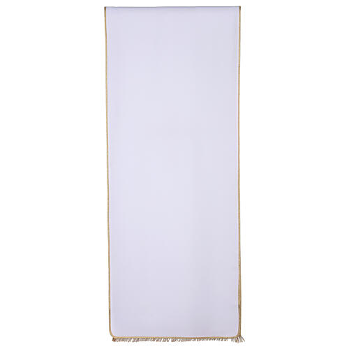 Lectern cover in Vatican fabric, polyester with cross and flower embroidery 3