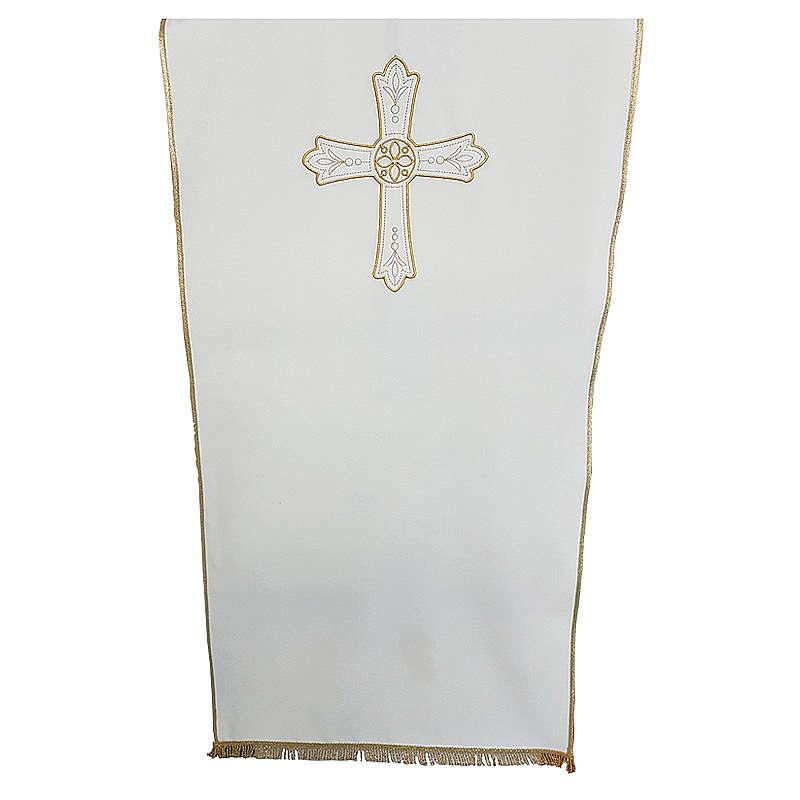 Coprileggio tessuto Vatican Poliestere ricamo croce fiore 4